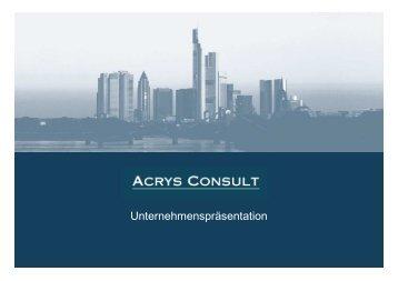 Geschäftsfelder Acrys Kompetenzfelder