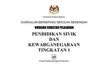 pendidikan sivik dan kewarganegaraan tingkatan 1 - Kementerian ...