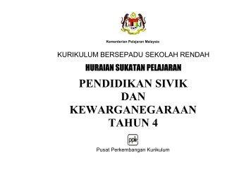 pendidikan sivik dan kewarganegaraan tahun 4 - Kementerian ...