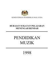 PENDIDIKAN MUZIK 1998 - Kementerian Pelajaran Malaysia