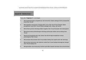 OBJEKTIF TINGKATAN 3 - Sukatan Pelajaran dan Rancangan ...