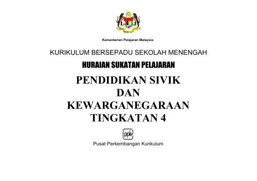 Pendidikan Sivik Dan Kewarganegaraan Tingkatan 4 Kementerian