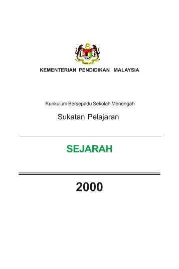 SP SEJARAH - Kementerian Pelajaran Malaysia