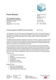 Press Release - 3-D MID