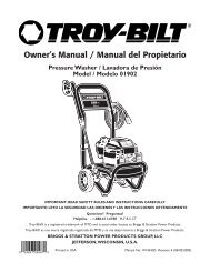 Owner's Manual / Manual del Propietario - Briggs & Stratton Power ...