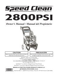 Owner's Manual / Manual del Propietario - Ppe-pressure-washer ...