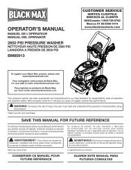 OPERATOR'S MANUAL - Ppe-pressure-washer-parts.com