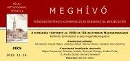 M E G H Í V Ó - Pécsi Hittudományi Főiskola