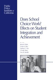 Does School Choice Work? - Public Policy Institute of California