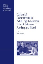 California's Commitment to Adult English Learners - Public Policy ...