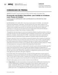 Press Release MEDIA - Public Policy Institute of California