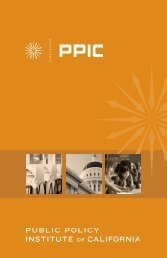 View our brochure - Public Policy Institute of California