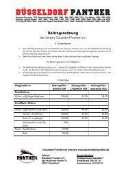 Beitragsordnung 2012 - Düsseldorf Panther