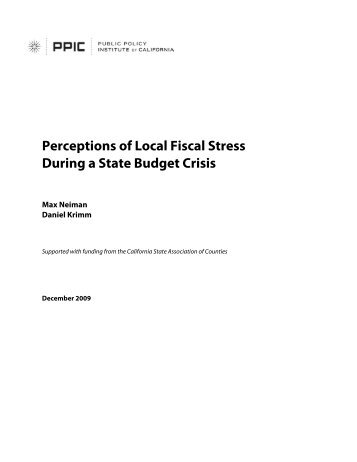 Perceptions of Local Fiscal Stress During a State Budget Crisis