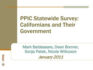Event Briefing - Public Policy Institute of California
