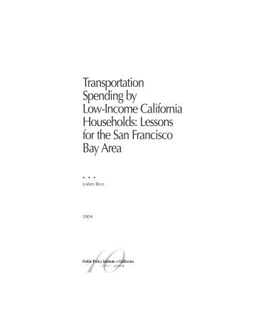 Transportation Spending by Low-Income California Households ...
