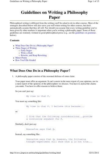 philosophy mark <a href=