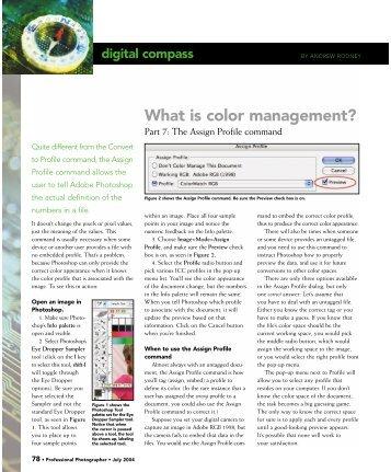 Assign Profile command - Professional Photographer Magazine
