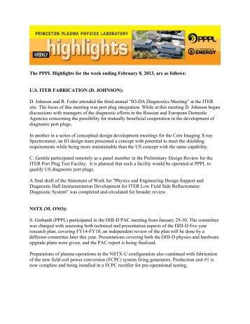 Highlights 02-08-2013-EXTERNAL.pdf - Princeton Plasma Physics ...