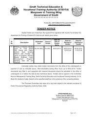 Sindh Technical Education & Vocational Training Authority (STEVTA ...