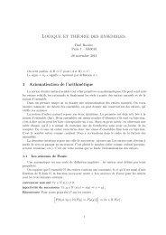 Logique et théorie des ensembles. - PPS