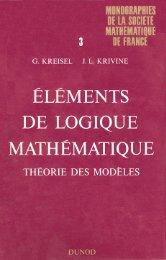 Eléments de logique mathématique - PPS