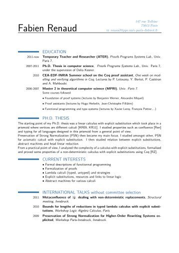Academic CV   PPS  Academic Cv