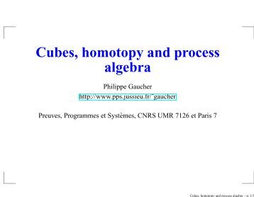 Cubes, homotopy and process algebra - PPS