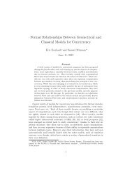 Formal Relationships Between Geometrical and Classical ... - PPS