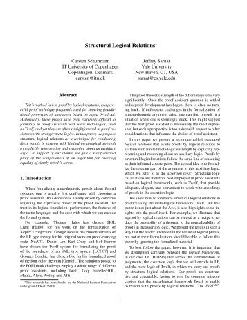 Structural Logical Relations - Twelf