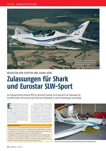 Zulassungen für Shark und Eurostar SLW-Sport - Fliegerrevue