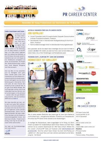 Karriere-News 9 2012 - PR Career Center