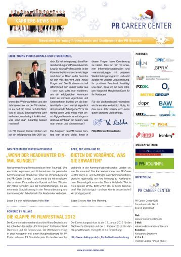 Karriere-News 7 2011 - PR Career Center