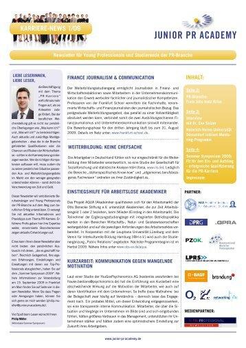 Karriere-News_1_2009 - PR Career Center