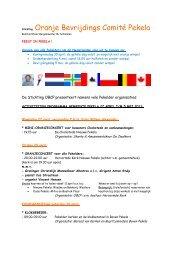 Oranje Bevrijdings Comité Pekela - Prachtig Pekela