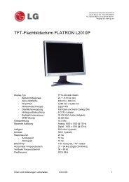 TFT-Flachbildschirm FLATRON L2010P - Prad