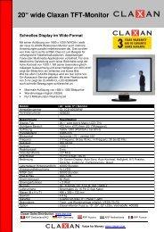 "20"" wide Claxan TFT-Monitor - Prad"