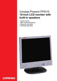 Compaq Presario FP5315 15-inch LCD monitor with built-in ... - Prad