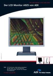 Der LCD Monitor A925 von ADI - Prad