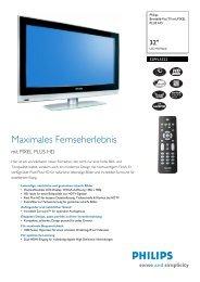 32PFL5322/10 Philips Breitbild-Flat TV mit PIXEL PLUS HD - Prad