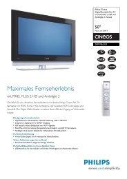 50PF9631D/10 Philips Digital-Breitbild-Flat TV mit Pixel Plus ... - Prad