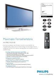 37PFL5322/12 Philips Breitbild-Flat TV mit PIXEL PLUS HD - Prad