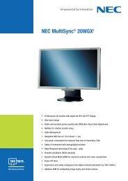 NEC MultiSync® 20WGX2 - Icecat.biz