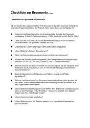 Checkliste zur Ergonomie...... - Prad
