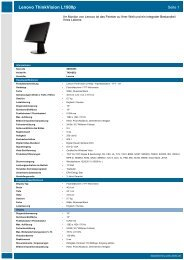 Datenblatt Lenovo ThinkVision L1900p - Prad