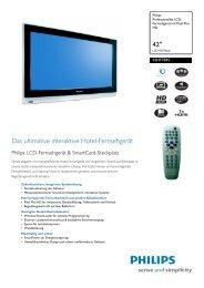 42HF7845/10 Philips Professionelles LCD-Fernsehgerät mit ... - Prad