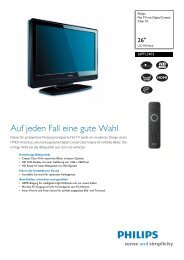 26PFL3403/10 Philips Flat TV mit Digital Crystal Clear III - Prad