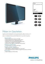47PFL7403D/10 Philips Flat TV mit Pixel Plus 3 HD - Prad