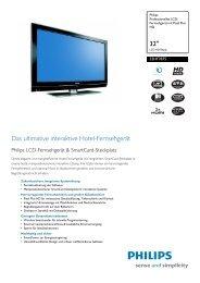 32HF7875/10 Philips Professionelles LCD-Fernsehgerät mit ... - Prad