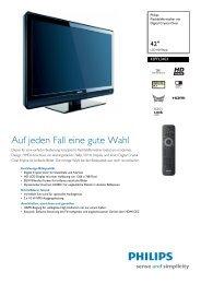 42PFL3403/12 Philips Flachbildfernseher mit Digital Crystal Clear